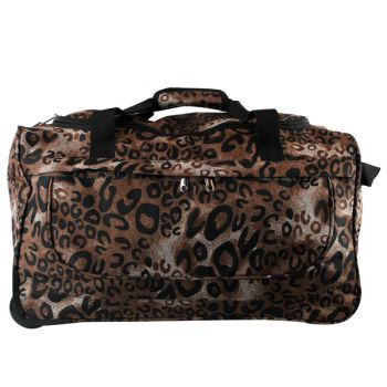 CARRY ON DUFFLE BAG ON WHEELS LEOPARD