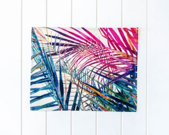 Placemat - Linen Look - Rainbow Palms C - 42x33cm (MIN 3)