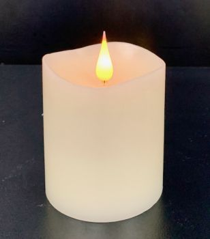 """4"""" Ivory 3D Flickering Flame LED Candle"""
