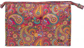 Retro Print Large Cosmetic Bag