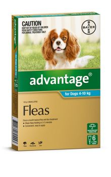 ADVANTAGE MEDIUM DOG 4-10KG 6PACK