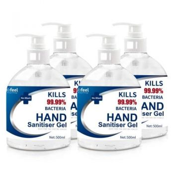 Instant Hand Sanitiser 2L 500mL x4 72% Alcohol Sanitizer Gel Instant Wash