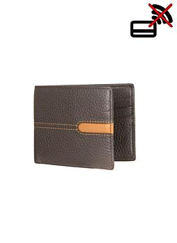 Pebble Grain Leather Billfold Wallet with RFID Blocking Technology