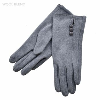 Three Buttons Gloves
