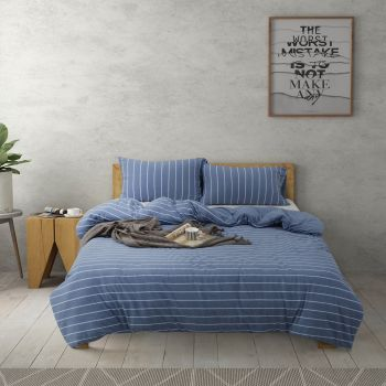 Dreamaker Cotton Jersey Quilt Cover Set Canberra King Bed