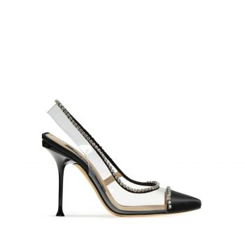 Sergio Rossi Slingbacks Sr Milano Diamonds Black