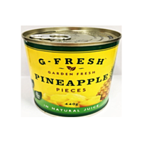 G-Fresh Can Pineapple Pieces N/J 440g