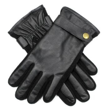 Men's Unlined Kangaroo Leather Gloves with Knitted Sidewalls