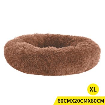 PaWz Soft Winter Cushion Pet Bed for Cats and Dogs XL in Brown