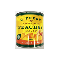 Gfresh Peach Slices In Light Syrup 820g