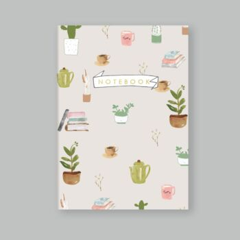 Plants Coffee - dotted notebook 80 pages A5