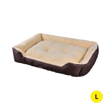 PaWz Pet Bed Soft and Calming Cushion Large Mattress for Pet Dogs and Cats in Brown