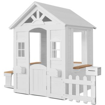 Lifespan Kids Teddy V2 Cubby House White with Timber Floor