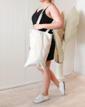 Linen Tote Bag - Small - Natural -30x50