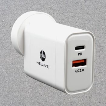 NEWAVE 2 Port Dual USB 30W PD Wall Charger Adapter