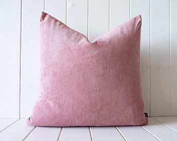 Indoor Cushion - Feather Insert - Dusty Pink Corduroy - 50x50