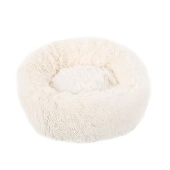 Soothing Calming Donut Pet Bed in White