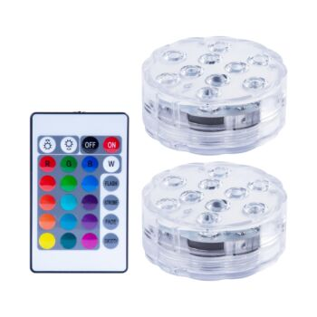Colour Changing Pool Lights and Remote Control 2 Pack