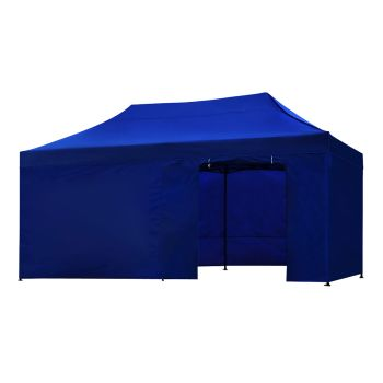 Mountview Foldable Pop Up Gazebo Canopy 3x6M in Blue Colour