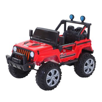 BoPeep 12V Kids Electric Jeep Toy Remote Control Car Off Road in Red