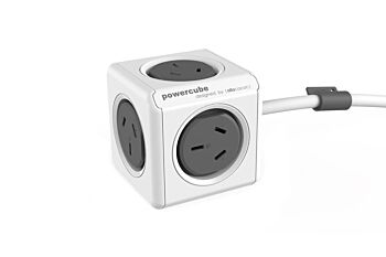 ALLOCACOC ALLOCACOC POWERCUBE Extended 5 Outlets, 1.5M - Black