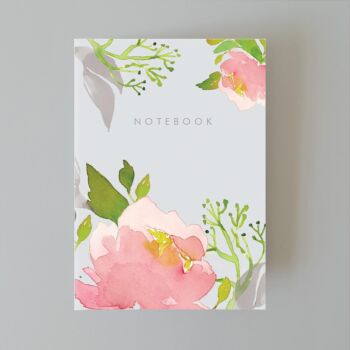 Dusk pink peony dotted notebook 80 pages A5